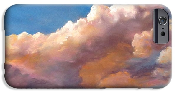 Jack Skinner Pastels iPhone Cases - Clouds over the Island iPhone Case by Jack Skinner