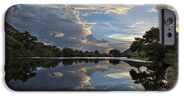 Dave iPhone Cases - Clouds over the Salt River Arizona iPhone Case by Dave Dilli