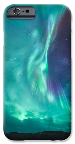 Recently Sold -  - Norway iPhone Cases - Clouds vs Aurorae iPhone Case by Tor-Ivar Naess