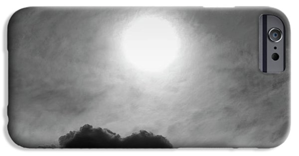 Dave iPhone Cases - Cloudscape XIV BW SQ iPhone Case by David Gordon