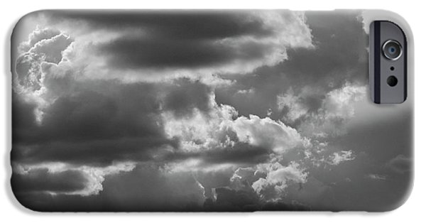 David iPhone Cases - Cloudscape XV BW SQ iPhone Case by David Gordon