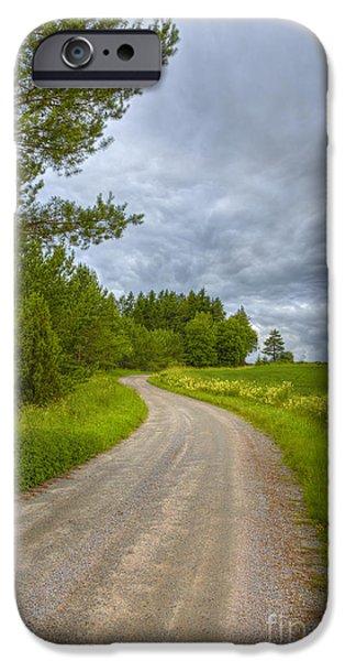 Meadow Photographs iPhone Cases - Cloudy Day iPhone Case by Veikko Suikkanen