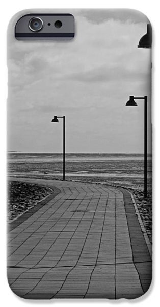 North Sea iPhone Cases - Cloudy Sunset Walk To The North Sea iPhone Case by See Hund