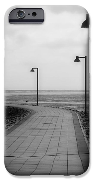 North Sea iPhone Cases - Cloudy Sunset Walk To The Sea iPhone Case by See Hund