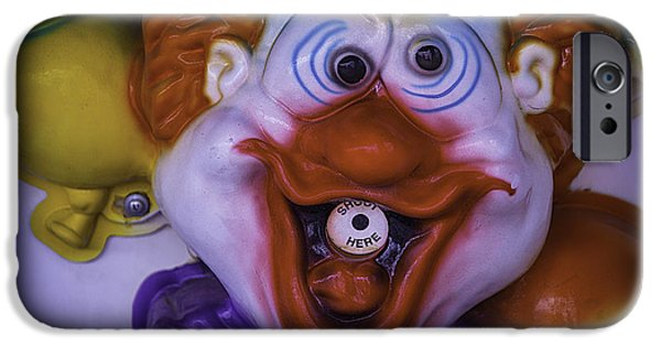 Lips iPhone Cases - Clown Squirt Game iPhone Case by Garry Gay