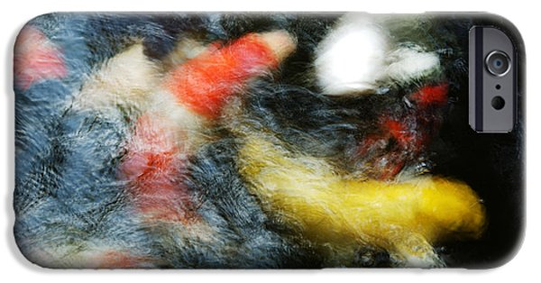 Japanese School iPhone Cases - Clustered Koi iPhone Case by Larry Dale Gordon - Printscapes