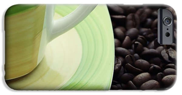 Small iPhone Cases - Co Beans With Cup iPhone Case by SK Pfphotography