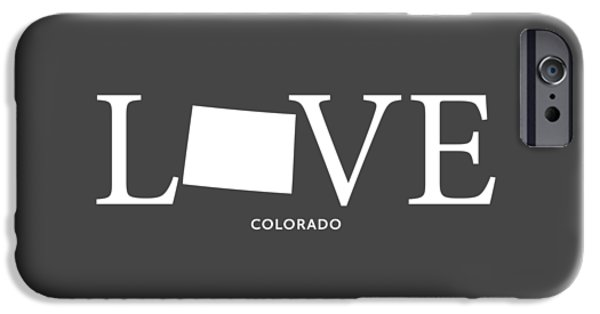 Fort Collins Mixed Media iPhone Cases - CO Love iPhone Case by Nancy Ingersoll