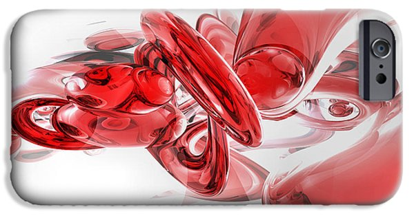 Glasses iPhone Cases - Coagulation Abstract iPhone Case by Alexander Butler