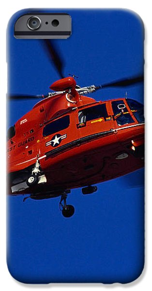 Coast Guard Helicopter iPhone Case by Stocktrek Images
