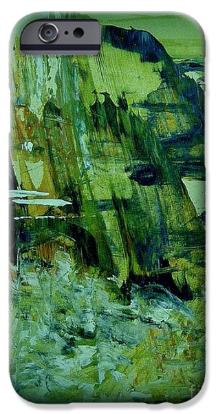 Abstract Digital Paintings iPhone Cases - Coast of Dreams iPhone Case by Nancy Kane Chapman