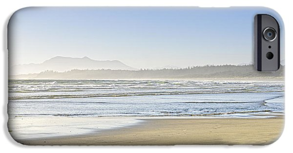 Pristine iPhone Cases - Coast of Pacific ocean on Vancouver Island iPhone Case by Elena Elisseeva
