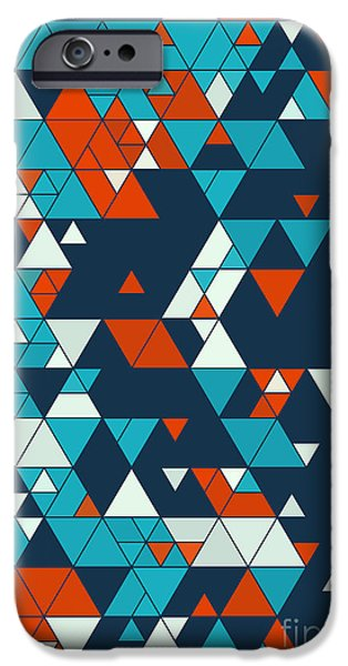 People iPhone Cases - Coast Triangle Design Background iPhone Case by Frank Ramspott