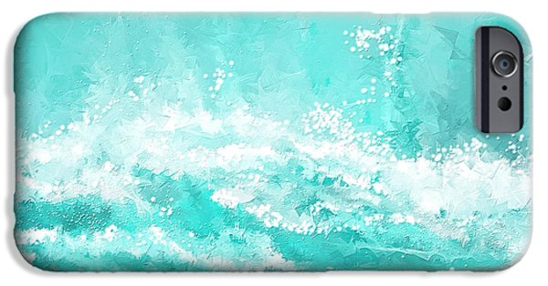 Inspired Paintings iPhone Cases - Coastal Inspired Art iPhone Case by Lourry Legarde