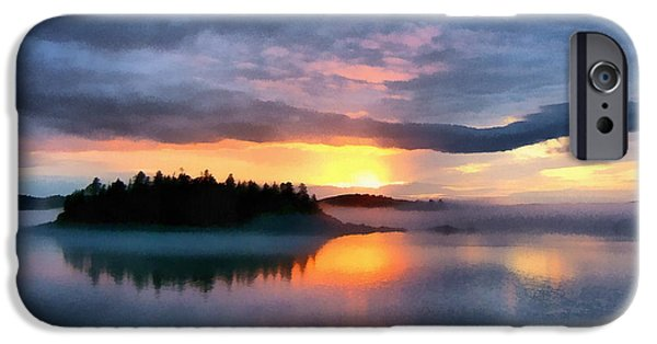 Downeast iPhone Cases - Coastal Maine Sunset iPhone Case by Edward Fielding