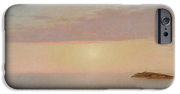 Kensett iPhone Cases - Coastal Sunset iPhone Case by John Frederick Kensett