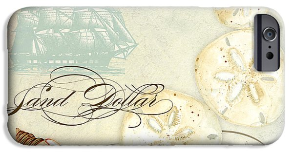 Tall Ship iPhone Cases - Coastal Waterways - Seashells iPhone Case by Audrey Jeanne Roberts