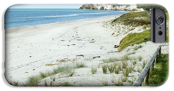 Beach Landscape iPhone Cases - Coastline NZ iPhone Case by Les Cunliffe
