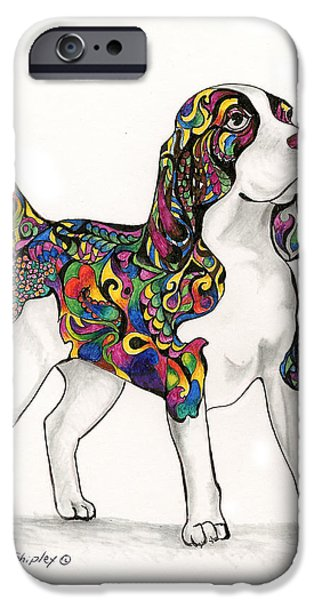 Dogs iPhone Cases - Coat of Many Colors iPhone Case by Sherry Shipley