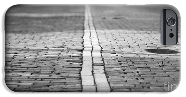 Balck Art iPhone Cases - Cobblestone Brick Street iPhone Case by ELITE IMAGE photography By Chad McDermott