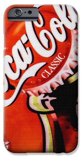 Coca-cola Signs iPhone Cases - Coca Cola Classic iPhone Case by Bob Orsillo