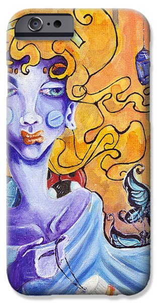 Bipolar Paintings iPhone Cases - Coccooned iPhone Case by Ela Steel
