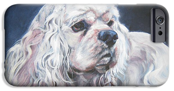 Recently Sold -  - Puppies iPhone Cases - Cocker Spaniel  1 iPhone Case by L A Shepard
