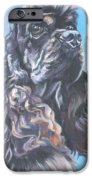 Cocker Spaniel Paintings iPhone Cases - Cocker Spaniel 2 iPhone Case by L A Shepard