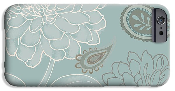 Earth Tone Paintings iPhone Cases - Cocoa Paisley IV iPhone Case by Mindy Sommers