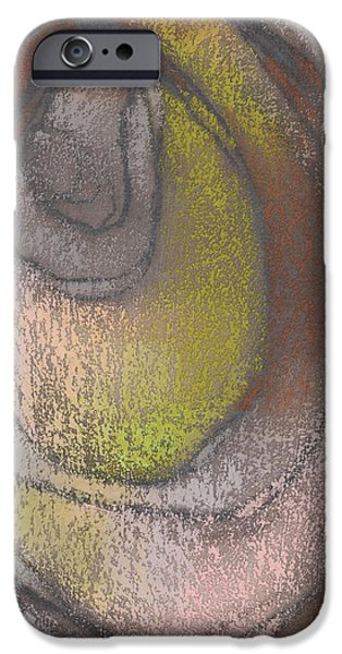 Abstract Expressionist Pastels iPhone Cases - Cocoon iPhone Case by Janine Aykens