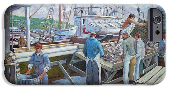 Canadiens Paintings iPhone Cases - Cod Memories iPhone Case by Richard T Pranke