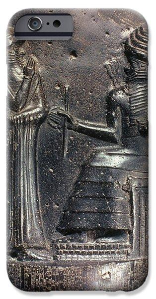Babylon iPhone Cases - Code Of Hammurabi (detail) iPhone Case by Granger