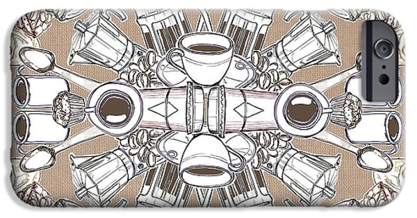 Snack Bar iPhone Cases - Coffee and Cake iPhone Case by Matt Bannister