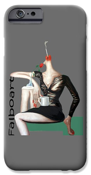 Shirt Digital iPhone Cases - Coffee Break T-Shirt iPhone Case by Anthony Falbo