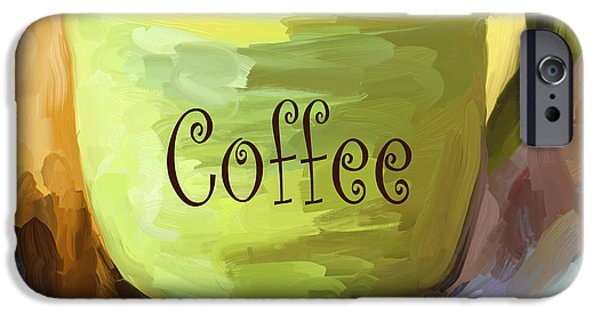 Espresso Paintings iPhone Cases - Coffee Cup iPhone Case by Jai Johnson