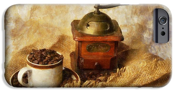 Old Grinders iPhone Cases - Coffee Grinder iPhone Case by Ian Mitchell