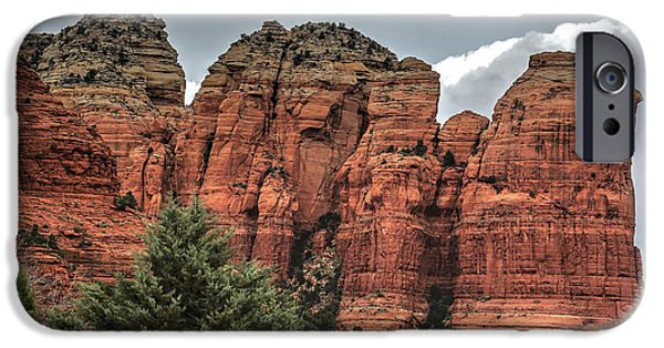 Sedona iPhone Cases - Coffee Pot Rock - Sedona iPhone Case by Donna Kennedy