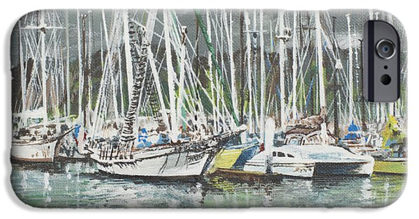 Boat iPhone Cases - Coffs Harbour iPhone Case by Vincent Alexander Booth
