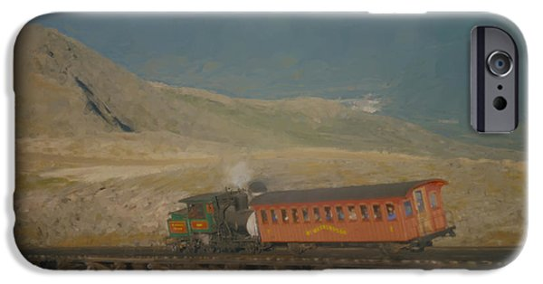 Mcentee Paintings iPhone Cases - Cog Railway Mount Washington iPhone Case by Bill McEntee
