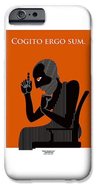 Rust iPhone Cases - I think therefore I am iPhone Case by Richard Nodine