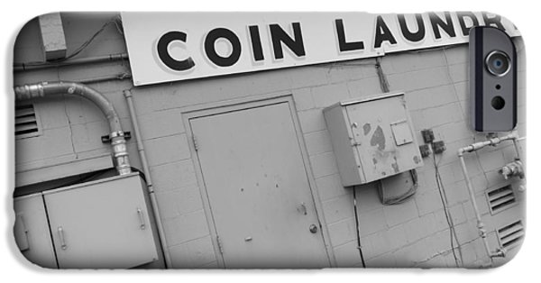 Electrical iPhone Cases - Coin Laundry iPhone Case by Kirk Griffith