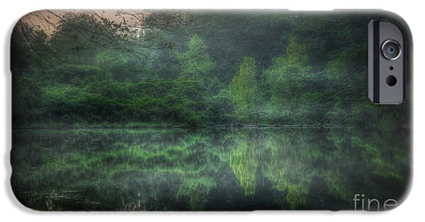 Fed iPhone Cases - Cold Spring Lake iPhone Case by Larry McMahon