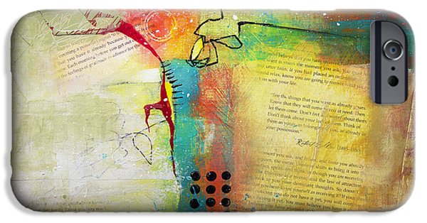 Business Paintings iPhone Cases - Collage Art 5 iPhone Case by Patricia Lintner