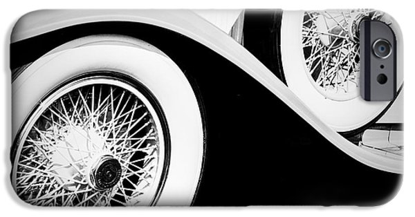 Vintage Car Pyrography iPhone Cases - Collection of Vintage cars and Auto mobile. iPhone Case by Cyril Jayant
