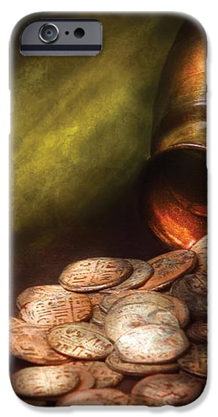 Collector - Coin - Treasure Quest  iPhone Case by Mike Savad
