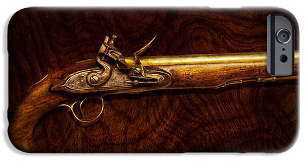 Gift For A iPhone Cases - Collector - Gun - Flintlock Pistol  iPhone Case by Mike Savad