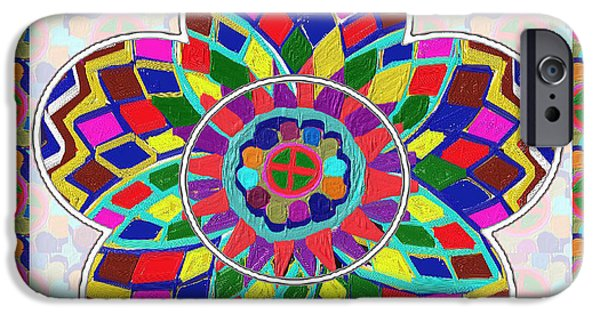 Festival Pyrography iPhone Cases - Collector quality High Energy n Healing Mandala Decorations by NavinJoshi at FineArtAmerica.com iPhone Case by Navin Joshi