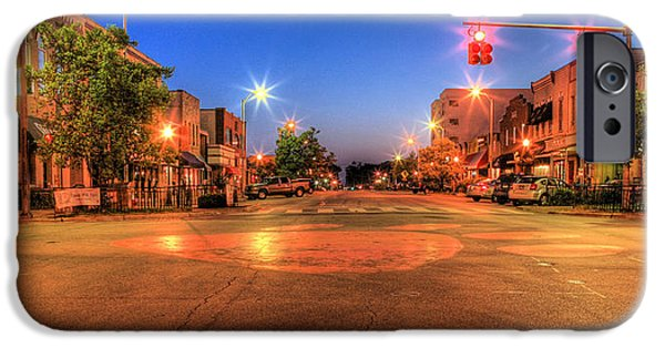 Auburn iPhone Cases - College Street iPhone Case by JC Findley