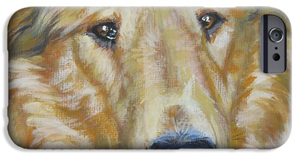 Dog Close-up Paintings iPhone Cases - Collie close up iPhone Case by Lee Ann Shepard