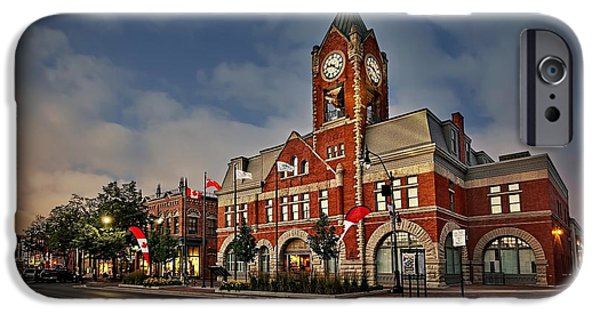 Beauty Mark iPhone Cases - Collingwood Townhall iPhone Case by Jeff S PhotoArt
